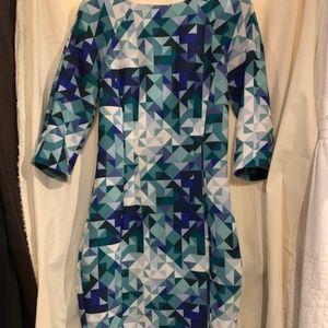 H&M Triangle Print Sheath Dress Body-Con Size 4
